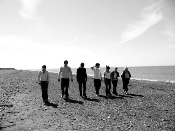 a walk on the beach by Sarahhanson
