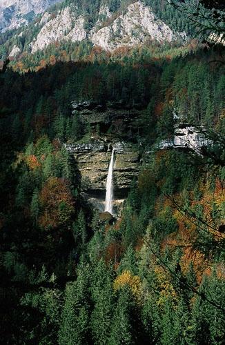 Pericnik waterfall by roy clark