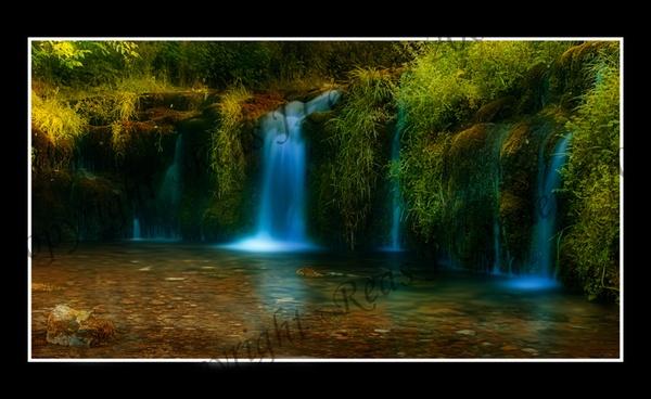 Lathkill dale falls by Loupix