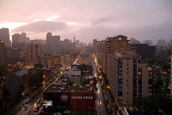 Stormy Toronto by themoabird