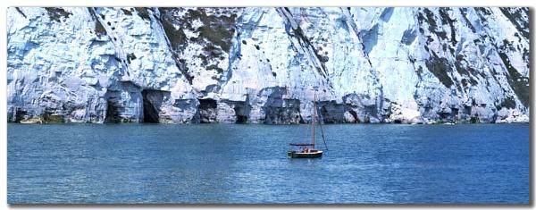 Blue chalk cliffs by BERTRAM
