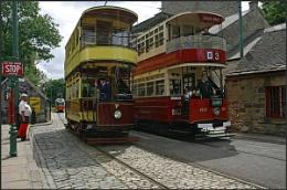 Trams of yesteryear.