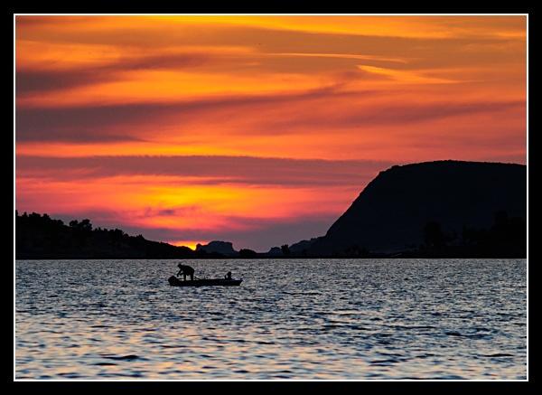 Aegean sunset by Perdiccas