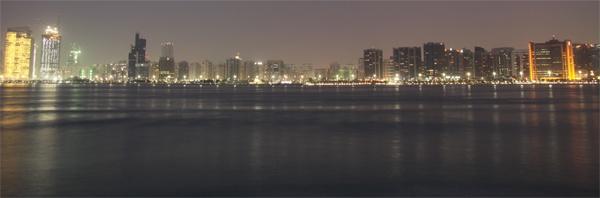 Abu Dhabi City (Night from the sea) by webdady