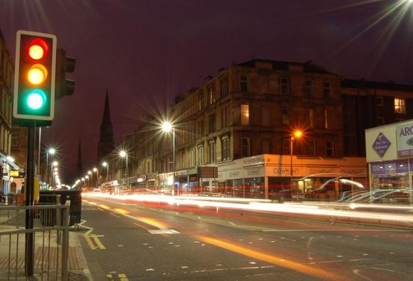 Great Western Road Glasgow by bigbadgoggs