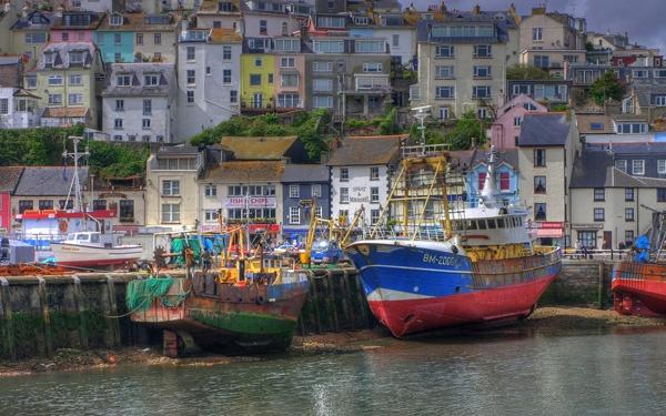 Brixham Harbour Devon by m lester