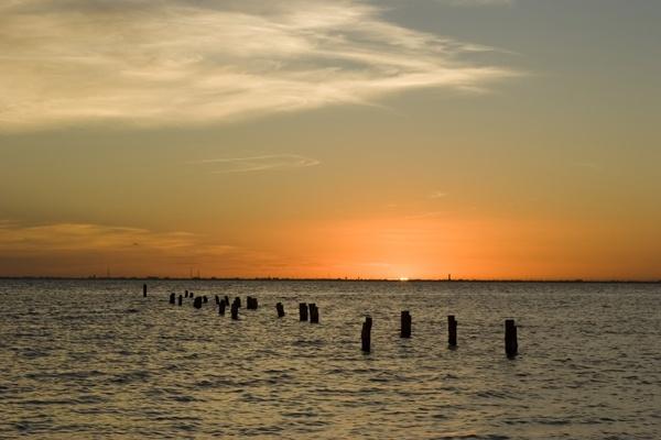 Twilight over the sea by garnham123