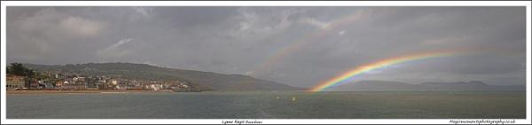 Rainbow, Lyme regis by Martin_R