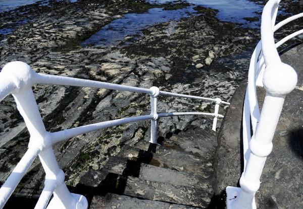 Aberystwyth Steps to Beach by Lobster