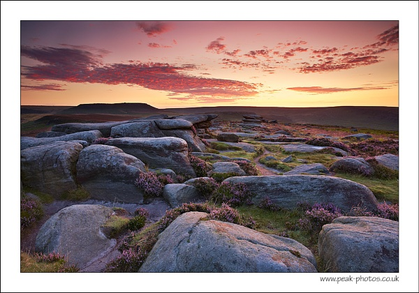 Blood Red over Burbage Edge by richardwheel