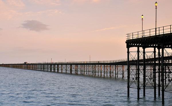 Southend Pier at Dusk by jennialexander