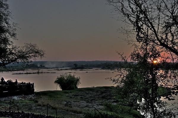 Sunset over Victoria Falls by jennialexander