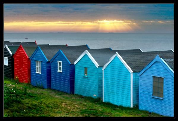 Sunrise Huts by FatHandedChap