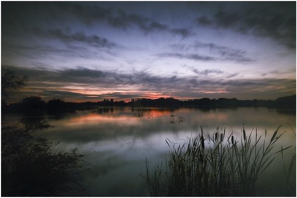 Misty sunset by bfgstew