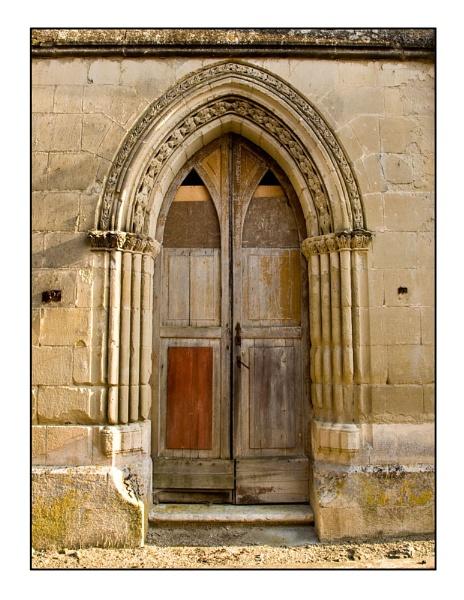 Church Door, Fonroque, France by suemason