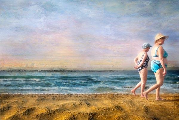 blue bikini by StevenLePrevost