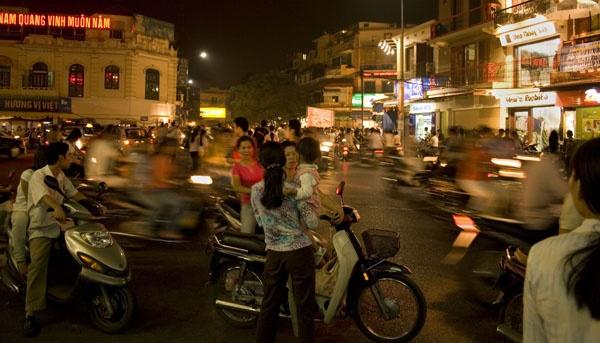 Hanoi at Night by lesleywilliamson