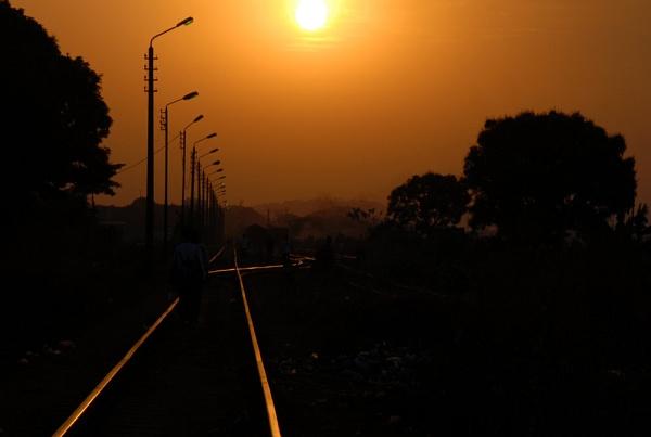 Sunset in Guinea Republic by JMB