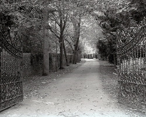 Gated Entrance to Sawston Hall by sybilla
