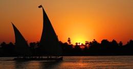 Sail by Orange sky