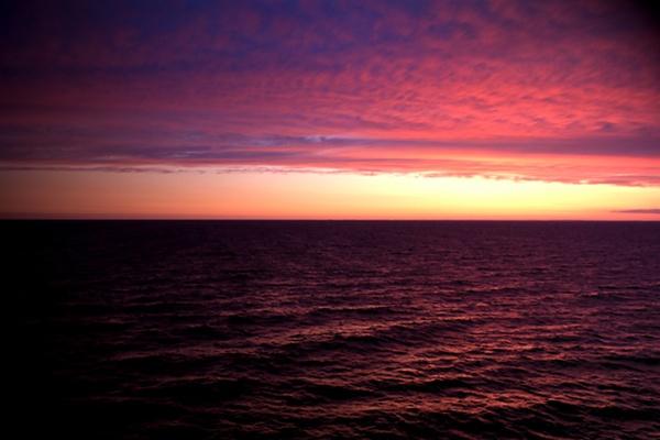 Sunset At Sea by stuhalloran