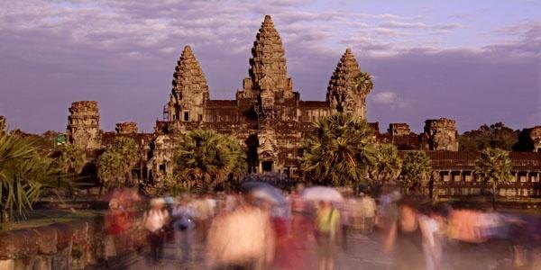 Rush Hour at Angkor Wat by lesleywilliamson