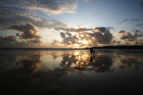 Newgale beach sunset by simonjr