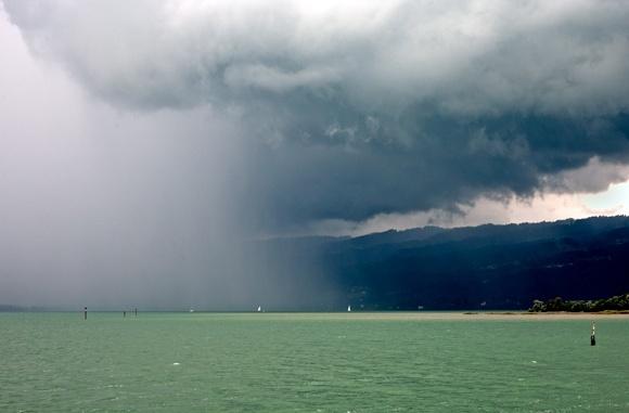 Storm over Konstanz by david hunt