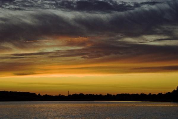 opposite of Rügen at sunset by kasv