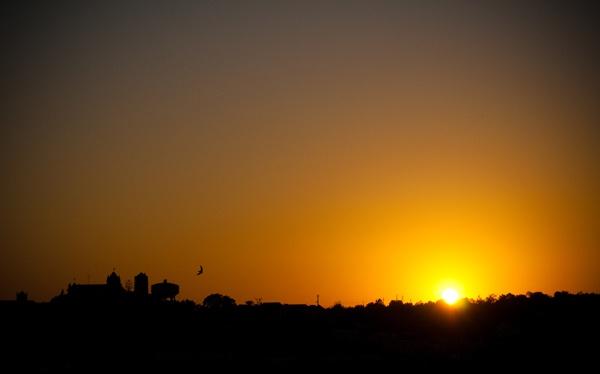 Tavira town sun sets by lemonnelly