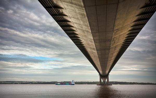 Under Humber Bridge by Steve Cribbin