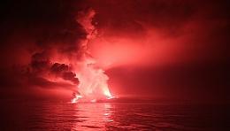 Galapagos eruption.
