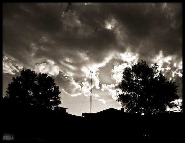 Hard Breath In Dark Sky by R3za