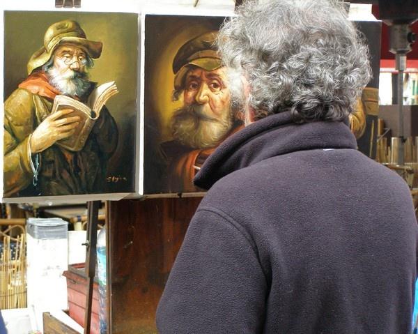 Artist in Montmartre by lindah303