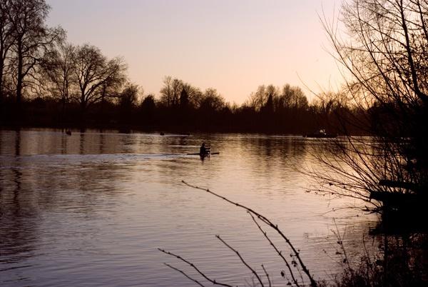 Canoe at Sunset by Trogdor