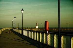 Amble Pier - Evening Light by lagil57