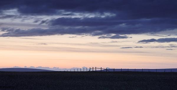 Fence at sunset by Carljorgensen