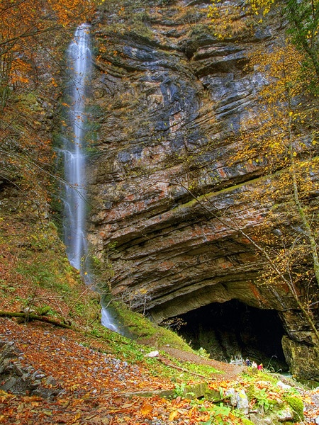 Waterfall and Cave by davor