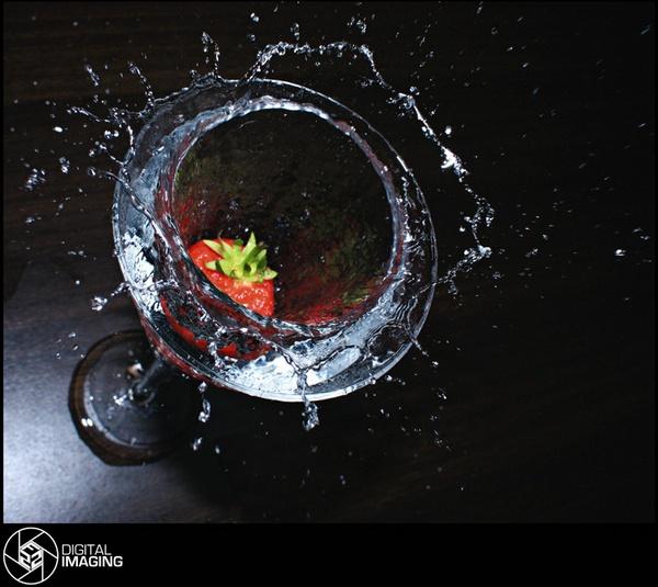 Strawberry Splash by f22Digitalimaging