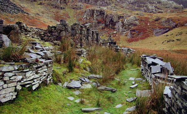 Ruins at Cwmorthin Quarry, Gwynedd by Bowline