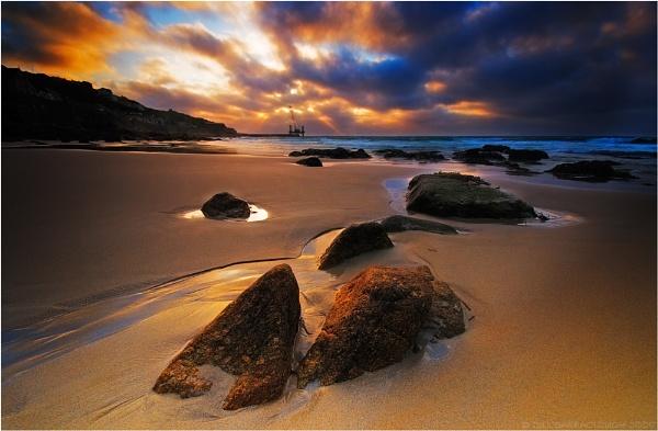 Sunset over Sennen by BillyGoatGruff