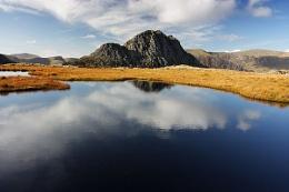 Tryfan over Llyn Caseg Fraith, Snowdonia