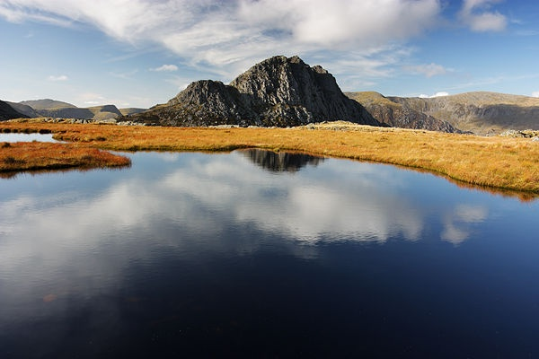 Tryfan over Llyn Caseg Fraith, Snowdonia by JulianC