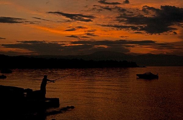 Sunset Fisherman Boat by davor