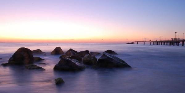 Beach Sunset by pj12