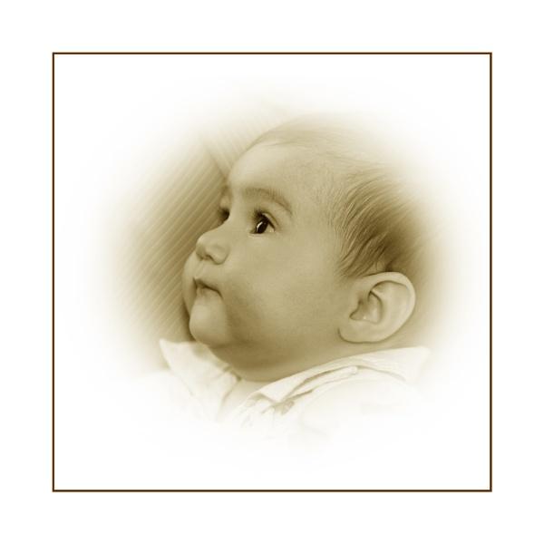 sepia baby by gribishok