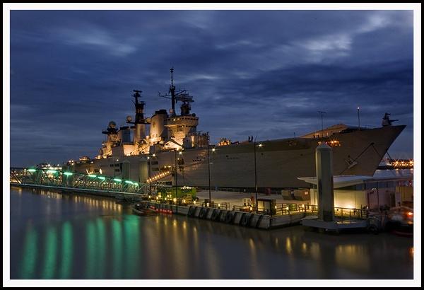 HMS Illustrious @ Dusk by urdygurdy