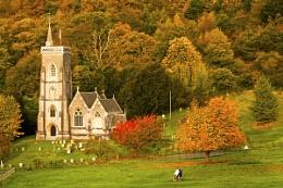Autumn and a church