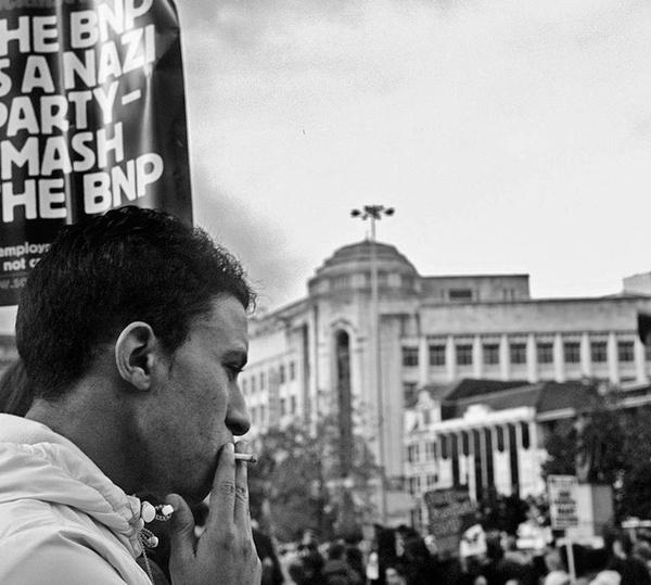 Unite Against Fascism protest, Manchester. by jacksloan
