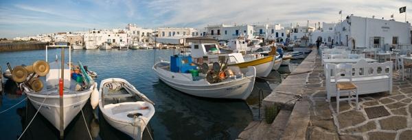 Naoussa Harbour. Paros. Greece by WILDIMAGES